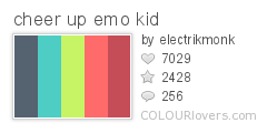 1930 cheer up emo kid Top 100 Tasty Palettes from Colourlovers