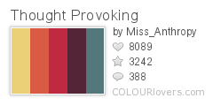 694737 Thought Provoking Top 100 Tasty Palettes from Colourlovers