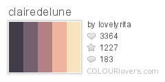723615 clairedelune Top 100 Tasty Palettes from Colourlovers