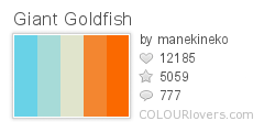 92095 Giant Goldfish Top 100 Tasty Palettes from Colourlovers