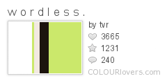 359978 w o r d l e s s . Top 100 Tasty Palettes from Colourlovers