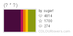 848743 (  ) Top 100 Tasty Palettes from Colourlovers