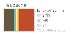 953498 Headache Top 100 Tasty Palettes from Colourlovers